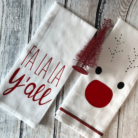 Kitchen Towels Xmas: Rae Dunn Inspired Christmas Kitchen Towel Christmas Towel Fa