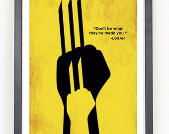 Logan Wolverine X-23 X-men movie Minimalist Poster