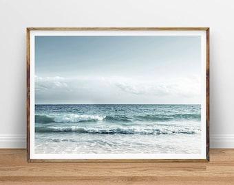 Ocean Waves Wall Art, Beach Surf Digital Print, Digital Download, Instant Download Printable Art, Printable Poster, Digital Art Download
