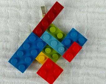 Anhänger aus buntem Lego zum selber zusammensetzen