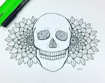 Skull and Mandalas