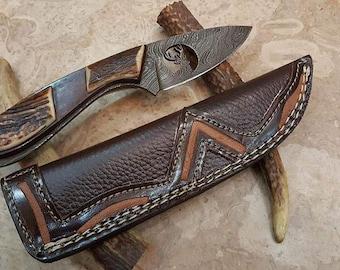 Damascus Deer Skinner Knife