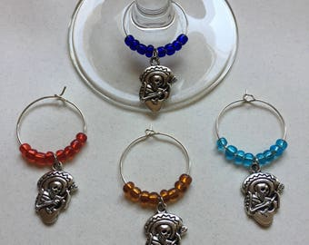 Day of the Dead Wine Charms
