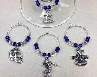 Cowboys Wine Charms