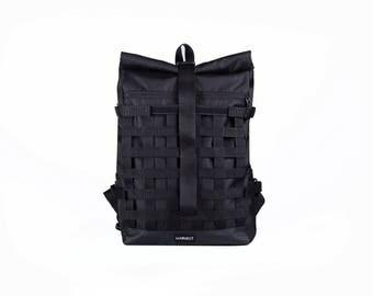 Waxed Canvas Backpack,Waterproof Backpack,Techwear Backpack,Hipster Backpack,Rolltop Backpack,Backpack Travel,Laptop Rucksack,Men's Backpack