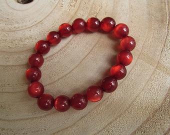 Red shiny bracelet