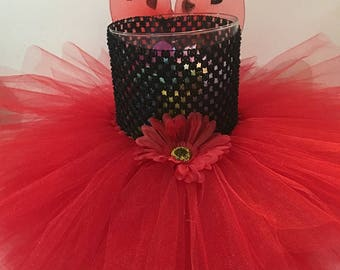 Newborn-6 month old Lady bug tutu Dress with wings