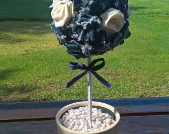 Recycled fabrics and denim roses trees