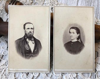 Victorian portraits - CDV carte de visite antique photograph