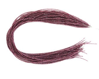 5 Strands / AAA Quality Rhodolite Garnet Faceted Beads (Machine Cut ) / 2.0-2.5 mm / 13.5 Inch