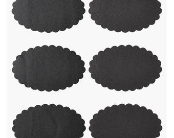 Black oval table slides - stickers, each 3 arches a 6 stickers.