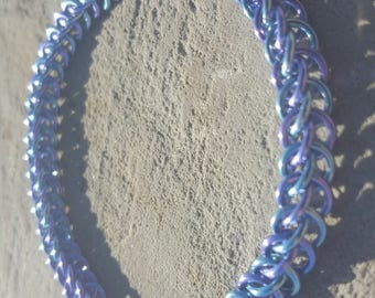 Blue and Purple Half Persian Bracelet