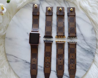 Louis Vuitton Damier Ebene Apple Watch Strap 38MM & 42MM, Repurposed Louis Vuitton ,Upcycle,Handmade