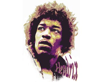 T-SHIRT: Jimi Hendrix / Voodo Child - Classic T-Shirt & Ladies Fitted Tee - (LazyCarrot)