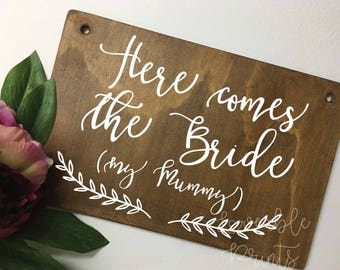 Page Boy Sign | Flower Girl Sign | Small Wooden Sign | Custom Wood Signs | Timber Sign |