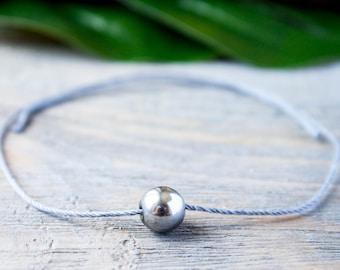 Gray String Bracelet Long Distance Relationship Bracelet His and Hers Magnets Wish Bracelet Magnetic Bracelet Red String of Fate Gray Cord