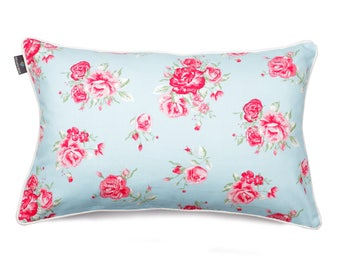 We Love Beds Rose Blue Pillow Case