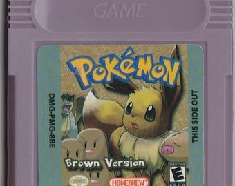 Gameboy Game Boy Color GBC Pokemon Brown Customized