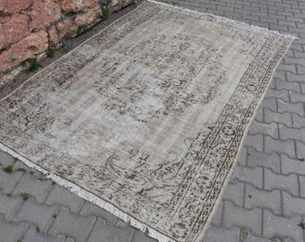 Natural Dyed Vintage Turkey Rug 5.5 x 8.2 feet Anatolian Free Shipping Turkish Rug Floor Rug Boho Rug Floor Rug Ethnic Rug Code47