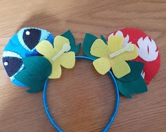 Handmade Mickey Mouse Ears - Lilo and Stitch