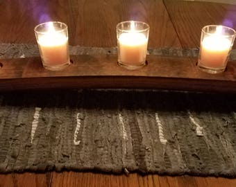Wood Candle Holder –with 7 votives