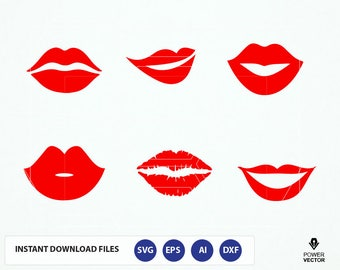 Red Lips Svg. Kiss SVG. Kiss Cricut. Love Kiss Svg. Kiss Svg File. Lips SVG. Women Lips SVG Clip art. Kiss Cut File. Mouth Svg. Lips Cameo