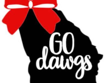 Go Dawgs Decal | UGA Decal | UGA Sticker | Dawgs Sticker | Dawgs Decal | Car Window Decal | UGA