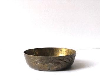 Vintage Solid Brass Bowl