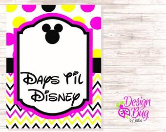 Disney Countdown Sign