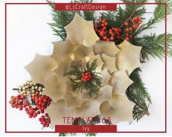 Paper Poinsettia Flower, PDF Paper Flowers, Giant Paper Flower, ChristmasDecor, Christmas flower, Base/Instruction Including