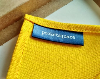 Bright Yellow Pocket Square