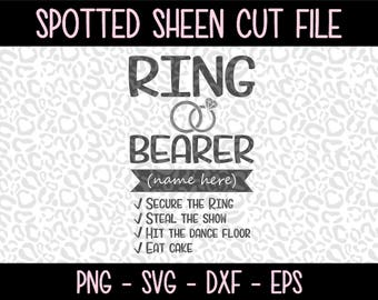 Ring Bearer Shirt PNG SVG eps and dxf Files for Cutting Machines Cameo or Cricut