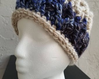 Chunky Diamond Cables Hat