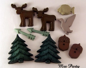 10 Pc Lumber Jack DIY Baby Shower Decor Embellishments Its A Boy