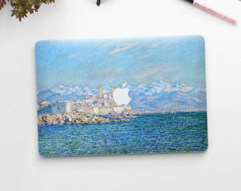 "Claude Monet, ""Antibes, Afternoon Effect"". Macbook Pro 15 skin, Macbook Pro 13 skin, Macbook 12 skin. Macbook Pro skin. Macbook Air skin."