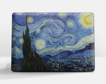 "Laptop skin (Custom size) Vincent Van Gogh ""Starry Night"" HP Pavilion laptop skin Acer laptop skin Dell laptop skin Sony laptop skin etc."