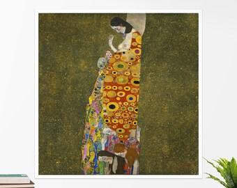 """Gustav Klimt, """"Hope"""". Art poster, art print, rolled canvas, art canvas, wall art, wall decor"""