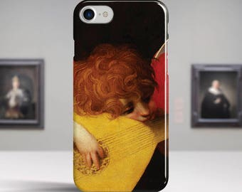 "Fiorentino Rosso, ""Musical Angel"". iPhone 8 Case Art iPhone 7 Case iPhone 6 Plus Case and more. iPhone 8 TOUGH cases. Art iphone cases."