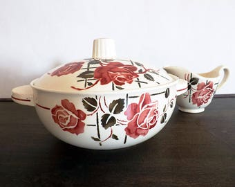 Tureen and gravy boat collection Simone - Soup tureen and gravy boat Badonviller french Badonviller brand
