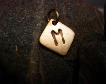 Ehwaz rune  amulet pendant.
