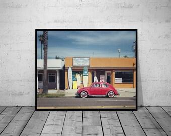 Car Print , VW Beetle, Oldtimer, Vintage Photo, digital print, Wall Art, Printable Poster, Digital Download, 4 JPG's