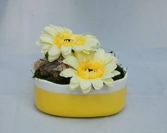 Tableau vegetal artificiel etsy for Arrangement floral artificiel