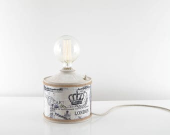 Industrial style with vintage light bulb lamp