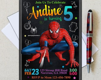 Spiderman Invitation/Spiderman Birthday Invitation/Spiderman Birthday/piderman Printable/Spiderman Card/Spiderman Invite/Spiderman