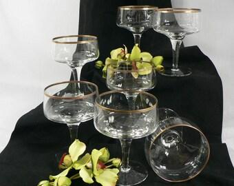 Vintage Stemmed Crystal Dessert Set 7 pcs.   02250g1529a