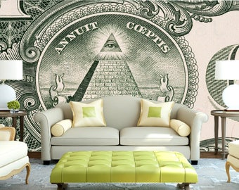 Money Wall Decal||Peel & Stick||Removable Wallpaper||High Quality Materials || DIY