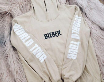 Bieber Purpose Tour Hoodie | Justin Bieber Hoodie | Purpouse Tour Merch | Oversize Hoodie | Sand Hoodie | Purpose World Tour | Bieber Merch