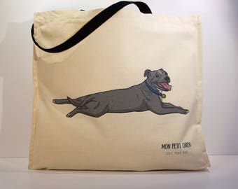 Staffordshire Bull Terrier shopping bag - Tote bag for Dog lovers