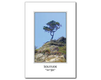 Lone Tree - Inspirational Poster - 12 x 18