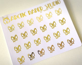 Bows - FOILED Sampler Event Icons Planner Stickers